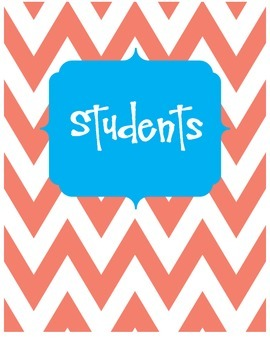 Teaching Resources Binder- Cover and Dividers