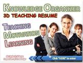 Teaching Resume: Knowledge Hyperlinked Organizer
