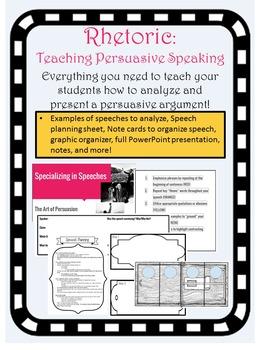Rhetoric and Persuasive Speaking