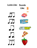 Teaching Rhythm with Food Chart