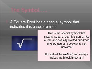 Teaching Roots and Square Roots