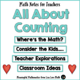 Teaching Rote Counting Well Makes Mathematics Meaningful