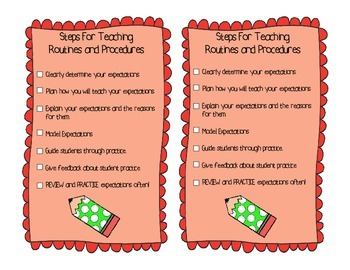 Teaching Routines and Procedures