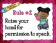 Teaching Rules Posters