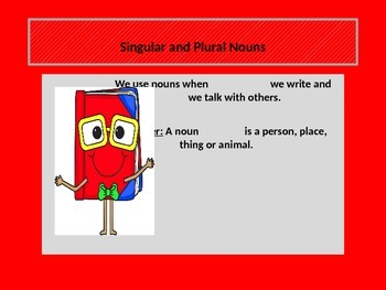 Teaching SINGULAR and PLURAL NOUNS with a POWER POINT presentation. Common Core.