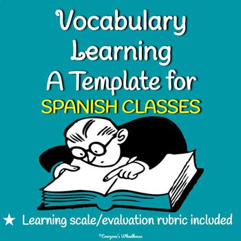Teaching SPANISH Vocabulary Template