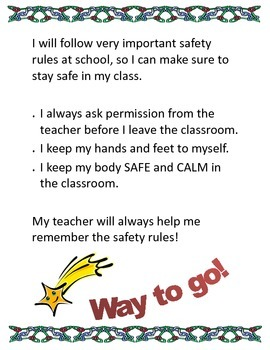 Teaching Safe Behavior in the Classroom at School
