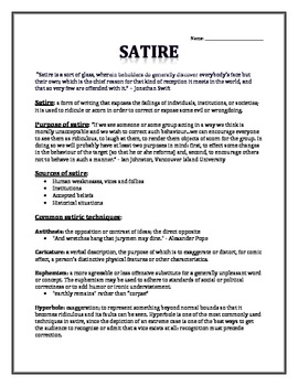 satire essay on teachers Get an answer for 'how should i begin my introductory paragraph for an essay about satire my group is doing a satire project on how the media exaggerates and.
