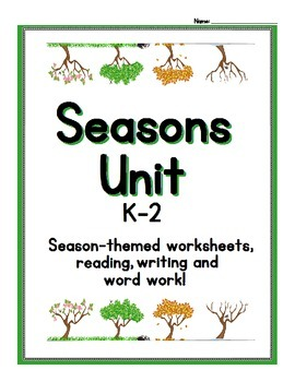Teaching Seasons - Worksheets and Language Activities for K-2