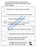 Teaching Sequencing with Jan Brett's The Mitten Printable Worksheet