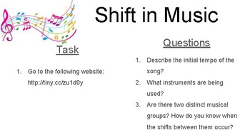Teaching Shift- Task cards