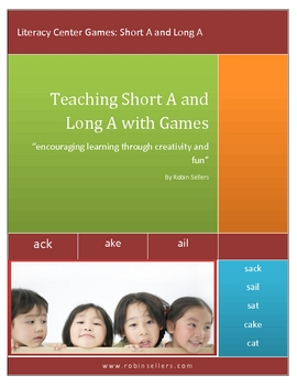 Teaching Short A and Long A Vowel Sounds Game: Literacy Center