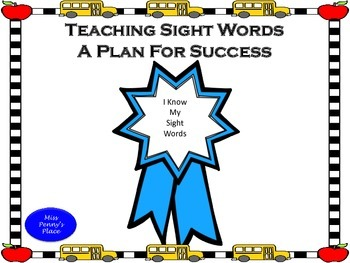 Teaching Sight Words -  A Plan for Success