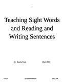 Teaching Sight Words and Writing Sentences in Kindergarten