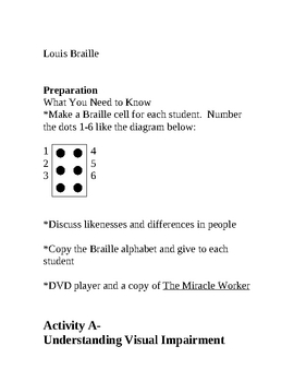 Teaching Sighted Children Braille and How to Appreciate Differences