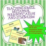 Teaching Simile, Metaphor, Personification & Symbolism
