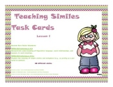 Teaching Similes Task Cards
