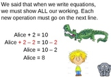 Teaching Simple Equations Part2