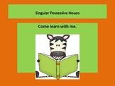 Teaching Singular Possessive Nouns power point presentation. Lesson.