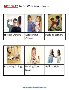Teaching Social Behaviors - Visual Aids - AS Autism , ADHD, ADD, PD, LD