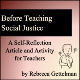 Teaching Social Justice:  A Self-Reflection Article and Ac