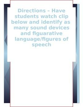 Teaching Sound Device & Figuartive Language With Media