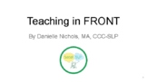 Teaching Spatial Concepts: IN FRONT (Distance Learning)