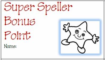 Teaching Spelling: Super Speller Bonus Tickets for Student Motivation