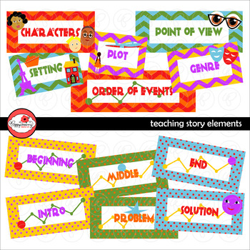 Teaching Story Elements Clipart by Poppydreamz