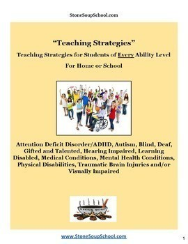 Teaching Strategies - ADD, AS, Blind, Deaf, GS, HI, LD, MH, PD, S&L, TBI, VI
