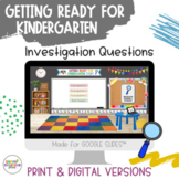 READY FOR KINDER–Investigations & Vocab Creative Curriculum Teaching Strategies