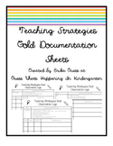 Teaching Strategies GOLD documentation sheets