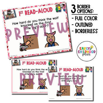 Teaching Strategies Gold- 22 The True Story of the 3 Little Pigs! - Book Card