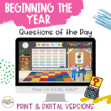 BEGINNING OF THE YEAR - Questions of the Day Creative Curriculum