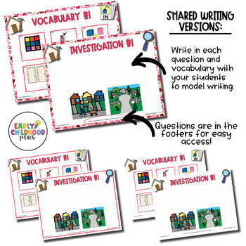 Teaching Strategies Gold- BUILDINGS Study – Investigation Questions & Vocabulary