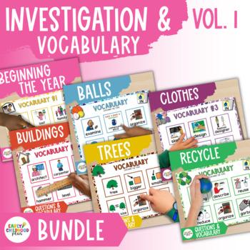 Teaching Strategies Gold BUNDLE- INVESTIGATION Q's & VOCABULARY for 6 STUDIES!