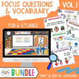 BUNDLE- INVESTIGATION Q's for 6 STUDIES! Creative Curriculum Teaching Strategies