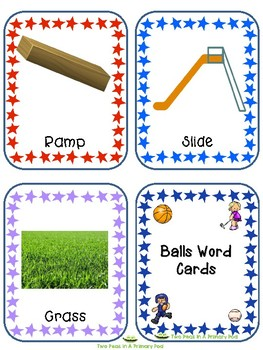 Teaching Strategies Gold Balls Word Cards for IKEA TOLSBY frames