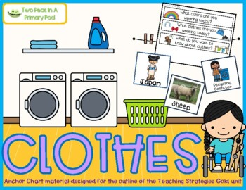 Teaching Strategies Gold Clothes Anchor Chart
