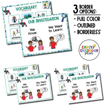 EXERCISE Investigations Vocab Creative Curriculum Teaching Strategies Gold