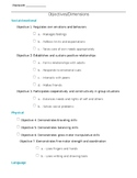 Teaching Strategies Gold~ Goals and Objectives by Student