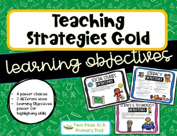 Teaching Strategies Gold - Learning Objectives
