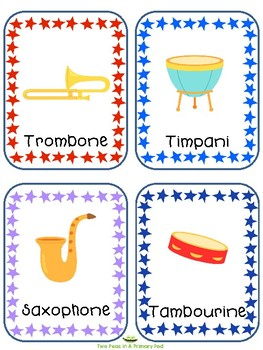 Teaching Strategies Gold Music Making Word Cards for IKEA TOLSBY frames