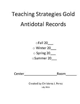 Teaching Strategies Gold Observation Form
