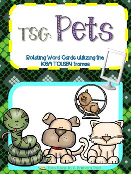 Teaching Strategies Gold Pets word cards for IKEA TOLSBY frames