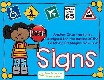 Teaching Strategies Gold Signs Anchor Chart