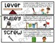 Teaching Strategies Gold Simple Machines Anchor Chart and Word Cards BUNDLE