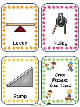 Teaching Strategies Gold Simple Machines Word Cards