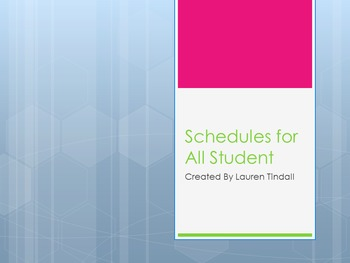 Teaching Student to read schedules