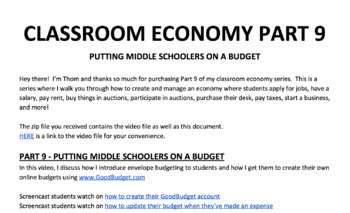 Teaching Students To Budget - How To Set Up A Class Economy Pt 9